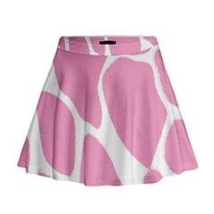 Baby Pink Girl Pattern Colorful Background Mini Flare Skirt