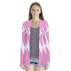 Baby Pink Girl Pattern Colorful Background Cardigans