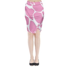 Baby Pink Girl Pattern Colorful Background Midi Wrap Pencil Skirt