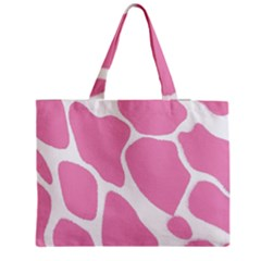 Baby Pink Girl Pattern Colorful Background Medium Zipper Tote Bag