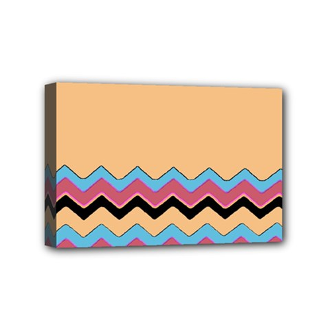 Chevrons Patterns Colorful Stripes Background Art Digital Mini Canvas 6  X 4
