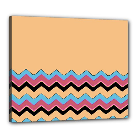 Chevrons Patterns Colorful Stripes Background Art Digital Canvas 24  X 20