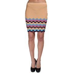 Chevrons Patterns Colorful Stripes Background Art Digital Bodycon Skirt