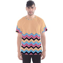 Chevrons Patterns Colorful Stripes Background Art Digital Men s Sport Mesh Tee