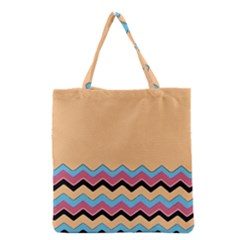 Chevrons Patterns Colorful Stripes Background Art Digital Grocery Tote Bag