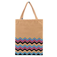 Chevrons Patterns Colorful Stripes Background Art Digital Classic Tote Bag