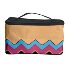 Chevrons Patterns Colorful Stripes Background Art Digital Cosmetic Storage Case