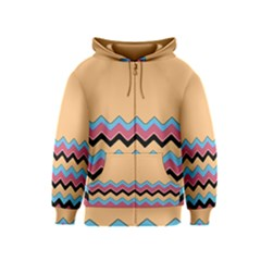 Chevrons Patterns Colorful Stripes Background Art Digital Kids  Zipper Hoodie