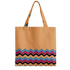 Chevrons Patterns Colorful Stripes Background Art Digital Zipper Grocery Tote Bag