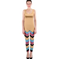 Chevrons Patterns Colorful Stripes Background Art Digital OnePiece Catsuit