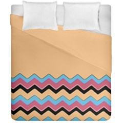 Chevrons Patterns Colorful Stripes Background Art Digital Duvet Cover Double Side (california King Size)