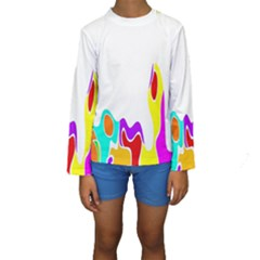 Simple Abstract With Copyspace Kids  Long Sleeve Swimwear