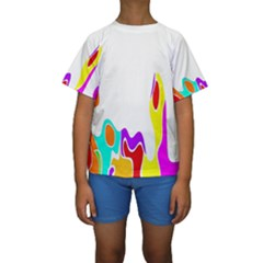 Simple Abstract With Copyspace Kids  Short Sleeve Swimwear