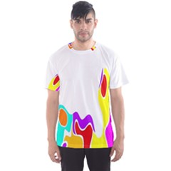 Simple Abstract With Copyspace Men s Sport Mesh Tee