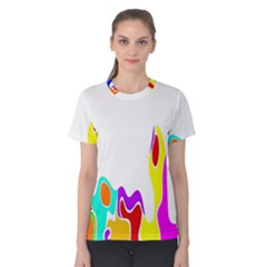 Simple Abstract With Copyspace Women s Cotton Tee