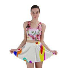Simple Abstract With Copyspace Mini Skirt