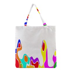 Simple Abstract With Copyspace Grocery Tote Bag