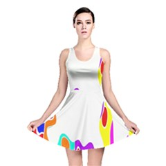 Simple Abstract With Copyspace Reversible Skater Dress