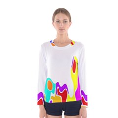 Simple Abstract With Copyspace Women s Long Sleeve Tee