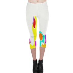 Simple Abstract With Copyspace Capri Leggings