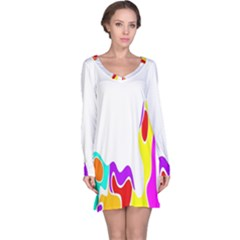 Simple Abstract With Copyspace Long Sleeve Nightdress