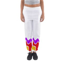 Simple Abstract With Copyspace Women s Jogger Sweatpants