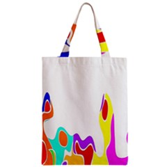Simple Abstract With Copyspace Zipper Classic Tote Bag