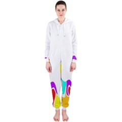 Simple Abstract With Copyspace Hooded Jumpsuit (ladies)