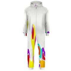 Simple Abstract With Copyspace Hooded Jumpsuit (men)