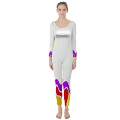 Simple Abstract With Copyspace Long Sleeve Catsuit