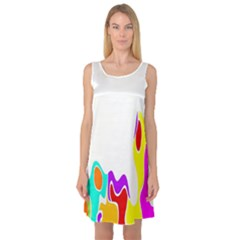 Simple Abstract With Copyspace Sleeveless Satin Nightdress