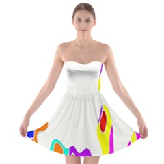 Simple Abstract With Copyspace Strapless Bra Top Dress