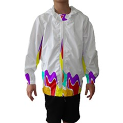 Simple Abstract With Copyspace Hooded Wind Breaker (kids)