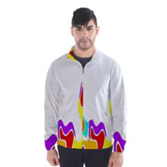 Simple Abstract With Copyspace Wind Breaker (men)