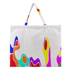Simple Abstract With Copyspace Zipper Large Tote Bag