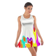 Simple Abstract With Copyspace Cotton Racerback Dress