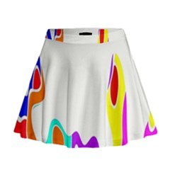 Simple Abstract With Copyspace Mini Flare Skirt