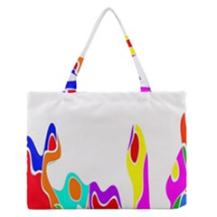 Simple Abstract With Copyspace Medium Zipper Tote Bag