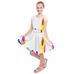 Simple Abstract With Copyspace Kids  Short Sleeve Dress