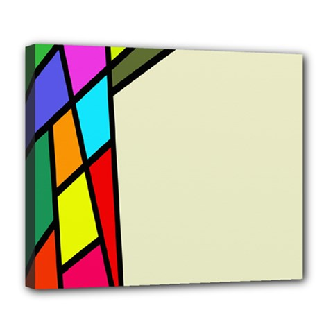Digitally Created Abstract Page Border With Copyspace Deluxe Canvas 24  x 20