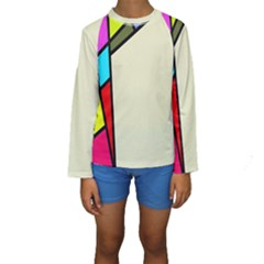 Digitally Created Abstract Page Border With Copyspace Kids  Long Sleeve Swimwear