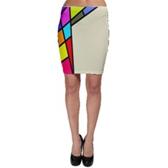 Digitally Created Abstract Page Border With Copyspace Bodycon Skirt