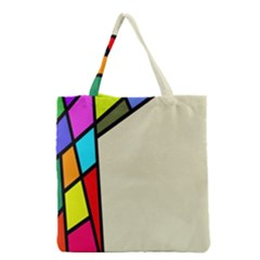 Digitally Created Abstract Page Border With Copyspace Grocery Tote Bag