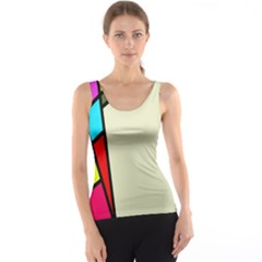 Digitally Created Abstract Page Border With Copyspace Tank Top