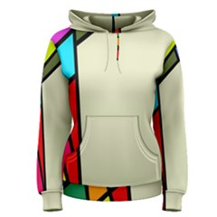Digitally Created Abstract Page Border With Copyspace Women s Pullover Hoodie