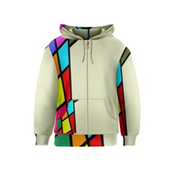 Digitally Created Abstract Page Border With Copyspace Kids  Zipper Hoodie