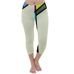 Digitally Created Abstract Page Border With Copyspace Capri Winter Leggings