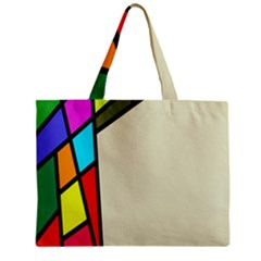 Digitally Created Abstract Page Border With Copyspace Zipper Mini Tote Bag