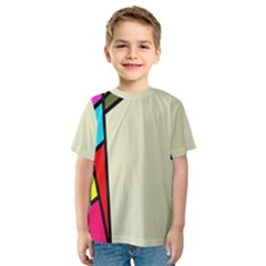 Digitally Created Abstract Page Border With Copyspace Kids  Sport Mesh Tee