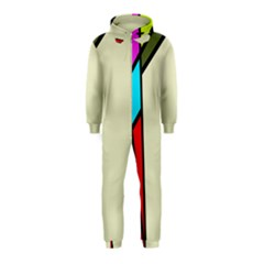 Digitally Created Abstract Page Border With Copyspace Hooded Jumpsuit (Kids)